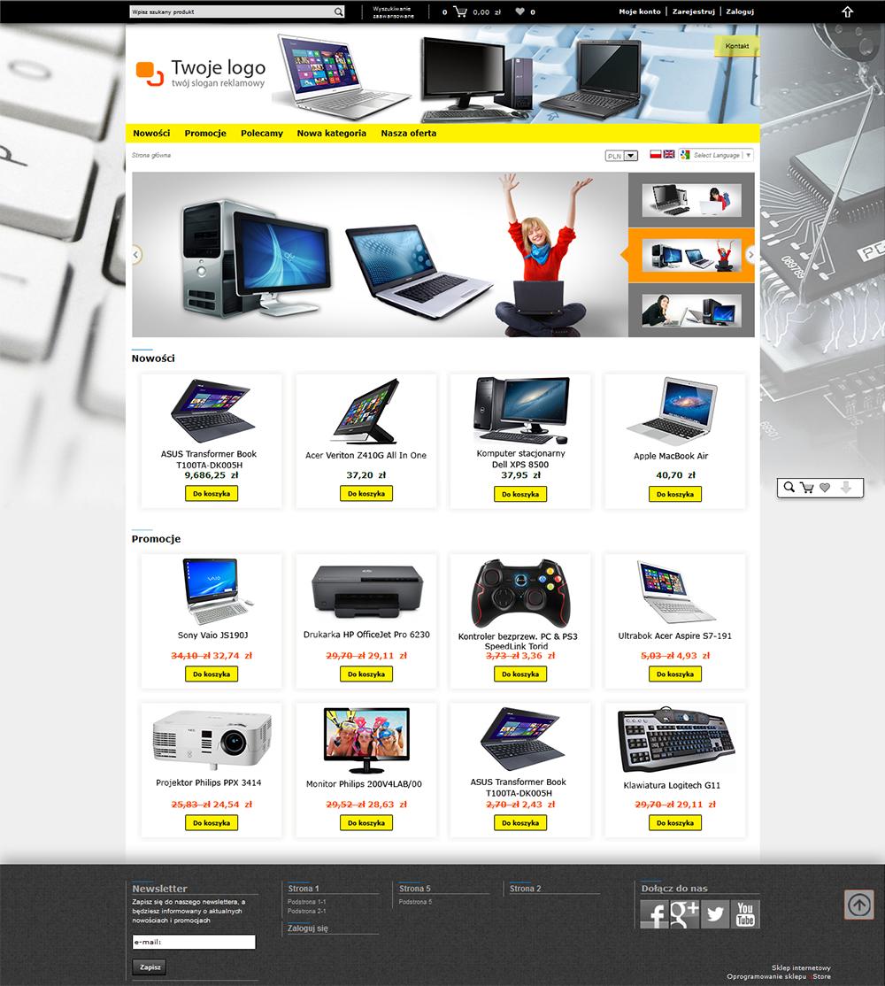 c0b44d969c078b Tworzenie, zakładanie, projektowanie sklepów internetowych. Pozycjonowanie sklepów  internetowych i stron WWW. Oprogramowanie sklepu internetowego - sStore.